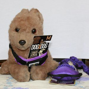 MED Hot Purple Mesh Dog Harness LG Multipet Toy